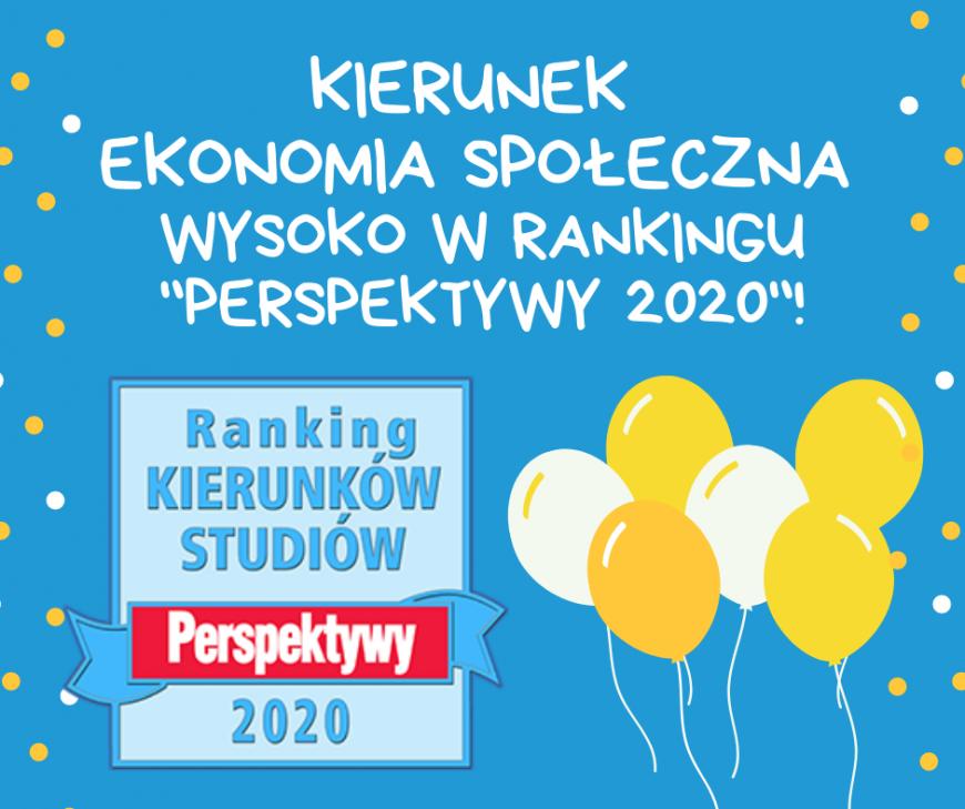 kierunek ekonomia społeczna wysoko w rankingu _perspektywy 2020_